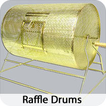Choose from Brass or Acrylic Raffle Drums
